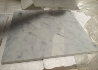 China White Natural Stone Tiles Italian Polished Carrara White Marble Floor Tiles supplier