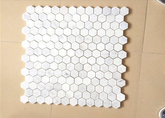 "China Hexagonal Honed Stone Mosaic Tile Marble Stone Chip 12""X12"" Size supplier"