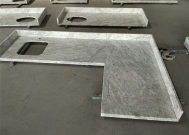 China Polished Prefab Kitchen Countertops Andromeda White Granite With Flat Edge supplier