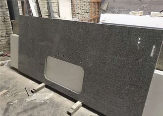 China Silver Grey Granite Prefab Stone Countertops Bar Top Easy Cleaning supplier