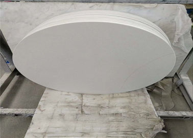 China Prefab Carrara White Marble Table Tops Smooth Surface Customized Thickness supplier