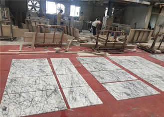 China Bespoke 60x60cm Size Natural Stone White Marble Floor Bevel Tiles  supplier