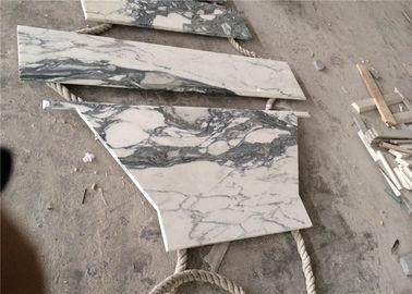 China Seam Arabescato Marble Slab , Luxury Prefabricated Kitchen Countertops supplier