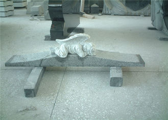 China Hand Carved Type Kid Angel Tombstone And Monument Grey Granite Big Color Range supplier