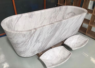 China Polished Treatment Luxury Natural Stone Bathtub Marble Material Freestanding Type supplier