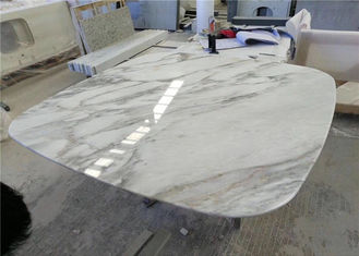 China Round Edge Marble Stone Table Tops , Working Table Top With Wide Color Range supplier