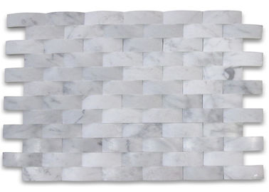China 3D Cambered Stone Mosaic Tile Customized Size For Kitchen Wall Decoration supplier