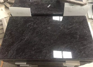 China Customized Black Granite Headstones , Granite Memorial Stones With White Point supplier