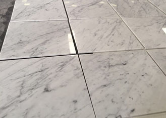 China Customized White Carrara Marble Natural Stone Tiles Polished Surface supplier