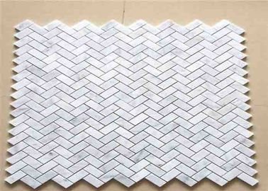 China Durable Mosaic Kitchen Wall Tiles , 30x30 Marble Herringbone Tile supplier