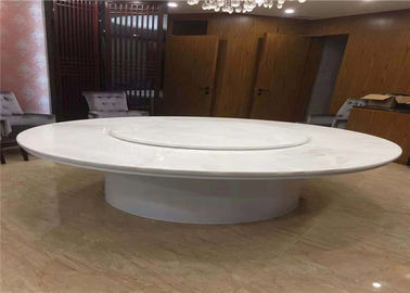 China Natural Translucent White Onyx Round Marble Table Top For Living Room supplier