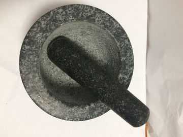 China Natural Stone Granite Mortar and Pestle For Kitchen Grinding Spice Foods Tools supplier