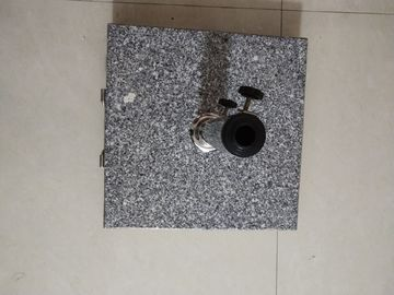 China Hand Carry Square Natural Granite Parasol Base, Sun Umbrella Wheel Stone Base supplier