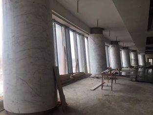 China High Building Marble Columns Decorative Round White Stone Column For Hotel supplier
