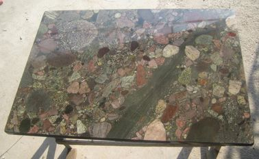 China Exotic Polished Natural Slate Wall Tile , Multi Color Granite Wall Tiles supplier