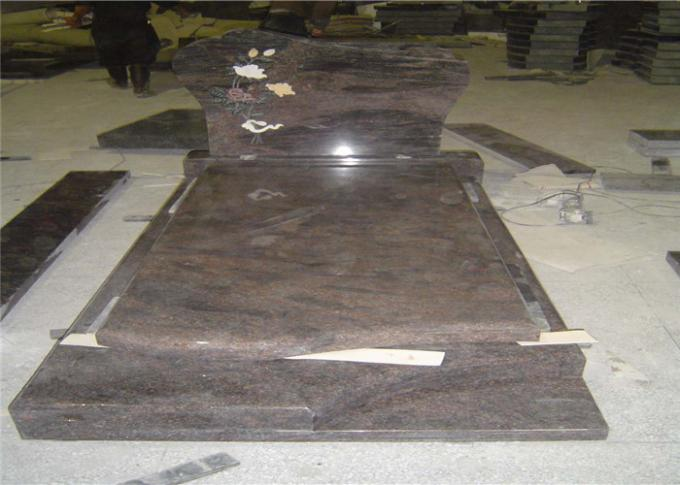 Customized Granite Cemetery Monuments Sand Bast Words Extra Finish