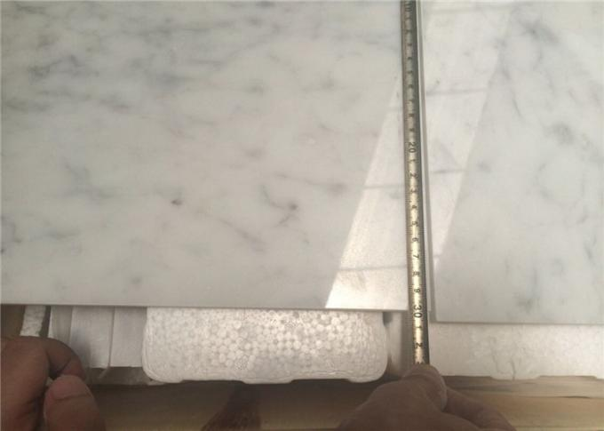 White Natural Stone Tiles Italian Polished Carrara White Marble Floor Tiles