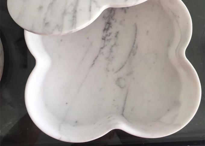 Safe Nontoxic Marble Dinnerware Set , Natural Marble Stone For Tableware