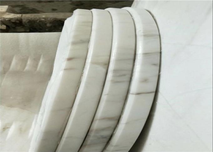 Prefab Carrara White Marble Table Tops Smooth Surface Customized Thickness