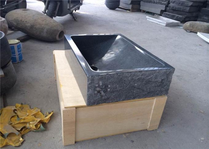 G654 Natural Stone Sink Sesame Dark Grey Granite Slope Rectangle Shape