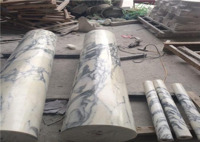 Arabescato Marble Natural Stone Marble For Prefabricated Big Round Column