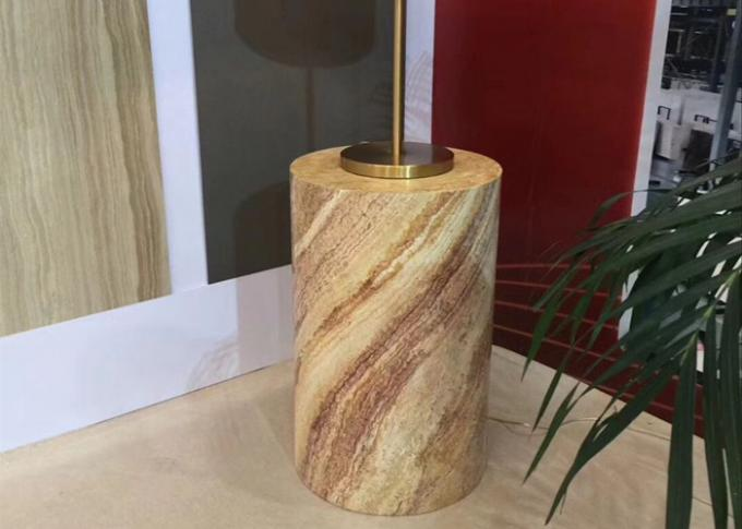 Decorative Marble And Granite Stonecraft , Marble Desk Lamp With Beautiful Pattern