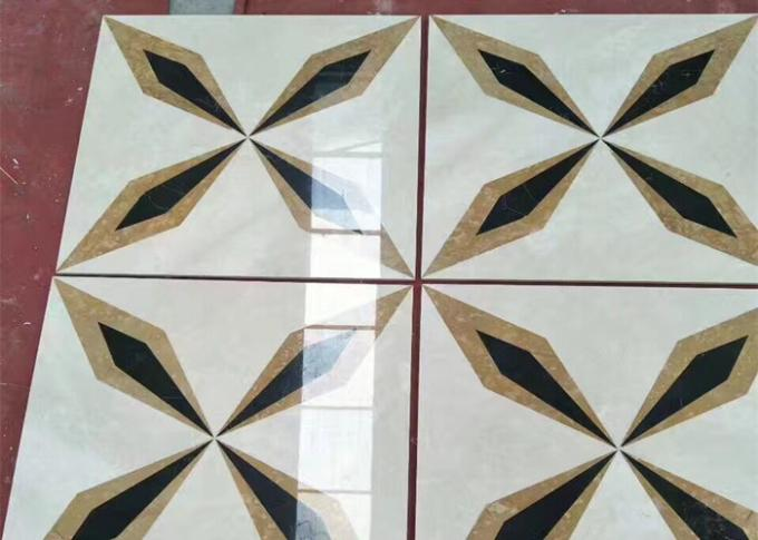CE Certificated Natural Stone Flooring Tiles 10mm Thickness Beautiful Appearance