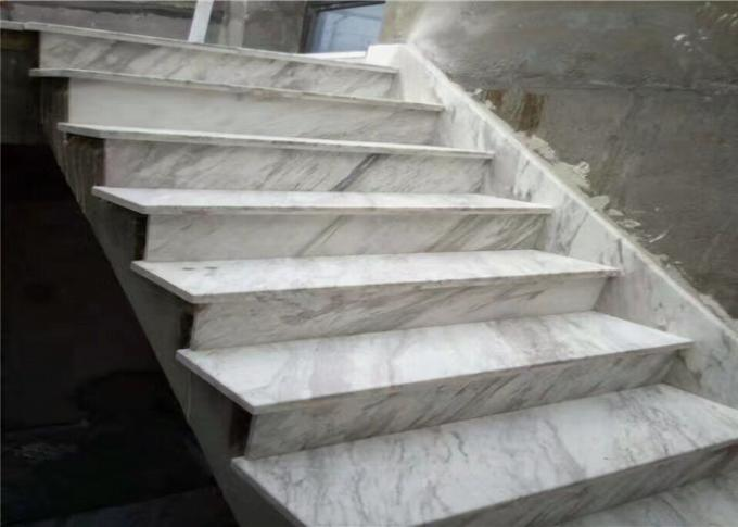 Classic Cut Natural Building Stone White Black Marble Stone Staircase Riser