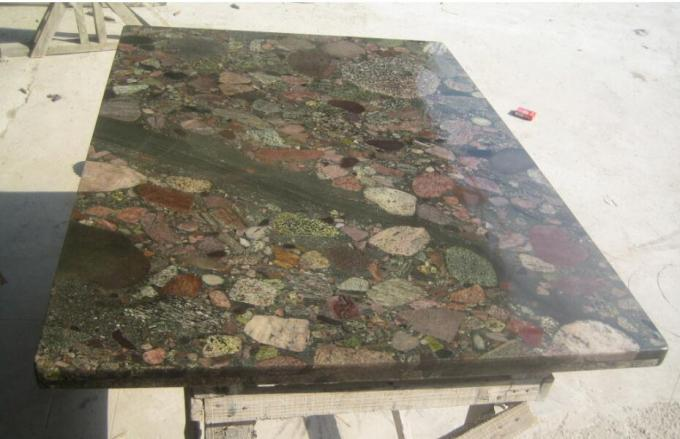 Exotic Polished Natural Slate Wall Tile , Multi Color Granite Wall Tiles