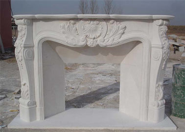 China Hand Carved Stone And Marble Fire Surrounds Durable For House Decoration factory