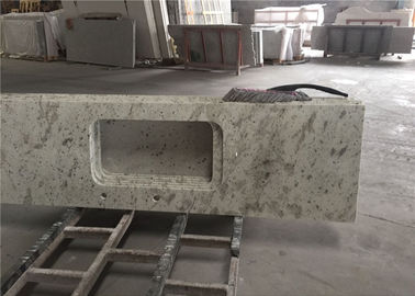 China White Granite Prefab Kitchen Countertops With Polished Eased Edge Customized Size distributor
