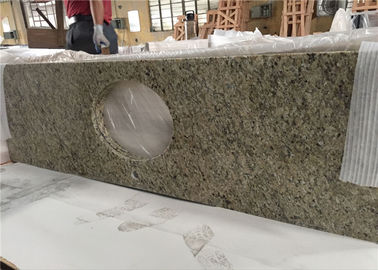 China New Venetian Gold Granite Prefab Stone Countertops Waterproof Type distributor
