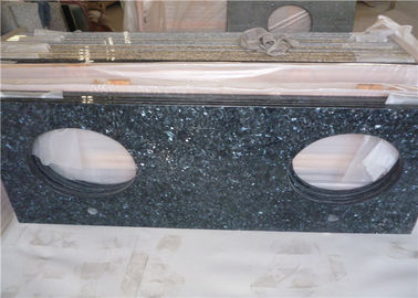 China Durable Blue Pearl Granite Vanity Top , Prefab Granite Vanity Countertops With Oval Sink factory