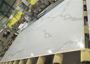 China Calacatta White Quartz Artificial Stone Calcutta Quartz Kitchen Stone Big Slab factory