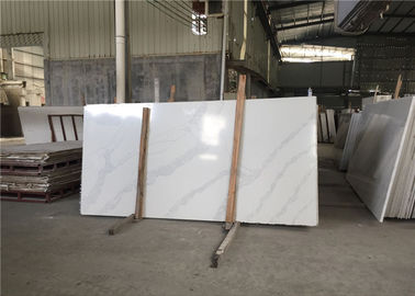 China Luxury Kitchen Artificial Stone Calacatta White Quartz Countertop Slab factory