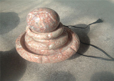 China Living Room Decorative Landscaping Stone Small Red Marble Ball Fountain factory