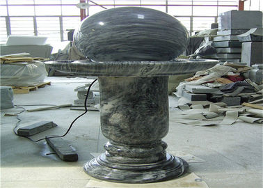 China Elegant Floating Marble Ball Fountain , Interior Decorative Stone Marble factory
