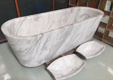 China Polished Treatment Luxury Natural Stone Bathtub Marble Material Freestanding Type distributor