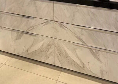China 4mm Thickness Thin Marble Tile , Real Thin Stone Veneer For Drawer Decoration distributor