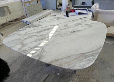 China Round Edge Marble Stone Table Tops , Working Table Top With Wide Color Range factory