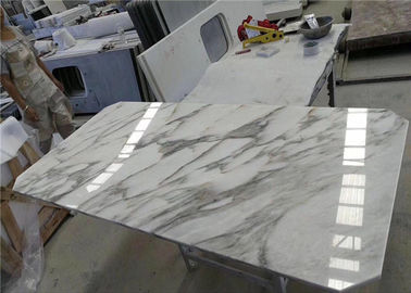 China Arabescato Marble Table Tops Bevel Angle Rectangle Shape Customized Size factory