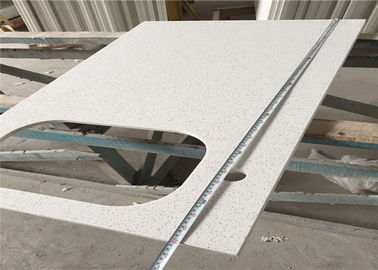 China Classic White Quartz Bathroom Vanity Top , 100cm Molded Bathroom Countertops factory