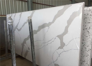 China Engineered Artificial Stone Calacatta White Quartz Stone Large Slab factory