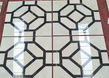 China Polished Marble Floor Tile , Natural Stone Building Materials Modern Design factory
