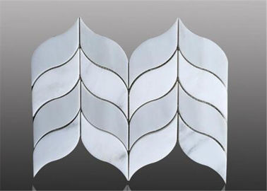 China Water Ject Marble Mosaic Floor Tile Leaf Pattern For Floor Decoration distributor