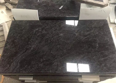 China Customized Black Granite Headstones , Granite Memorial Stones With White Point distributor