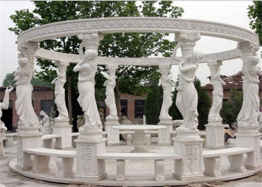 China Durable Decorative Landscaping Stone For Hand Carved Marble Gazebos distributor