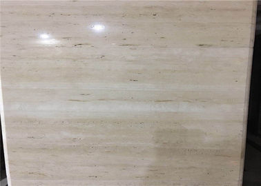 China Super Light Natural Stone Tiles , Italian Ivory White Travertine Marble Wall Tile distributor