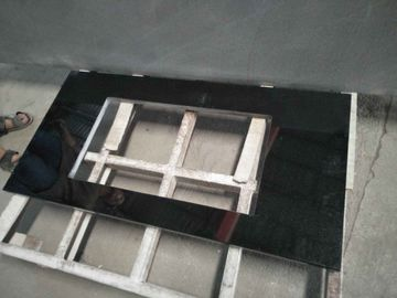 China Absolute Black Granite Countertop , Prefab Black Stone Countertops For Bathroom distributor