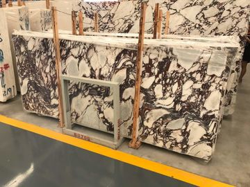 China Luxury Breccia Violetta Marble Natural Stone And Tile Hotel Wall Decoration Panel distributor